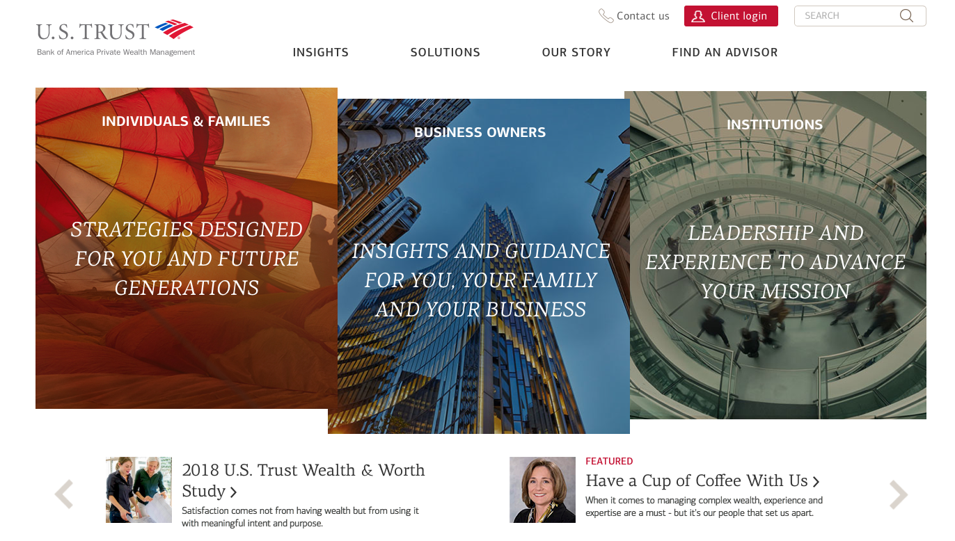 U. S. TRUST BANK OF AMERICA PRIVATE  WEALTH MANAGEMENT